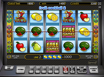 Вулкан 777 с игрой Fruit Cocktail 2